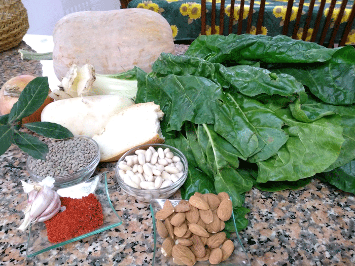 Ingredientes de la olleta alicantina